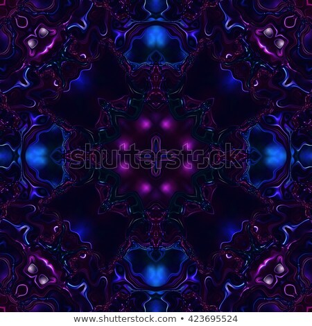 glass round and floral pattern of precious stones Stock photo © yurkina