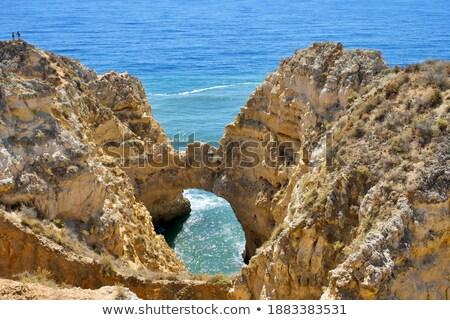 Világítótorony Portugália tenger építészet ősi tájékozódási pont Stock fotó © Photooiasson