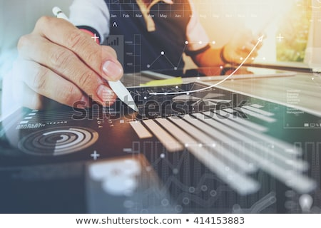 business analysis digital tablet with financial charts stock photo © stevanovicigor