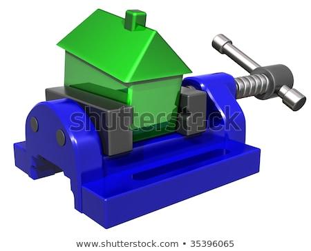 Squeezing house prices Stock photo © paulfleet