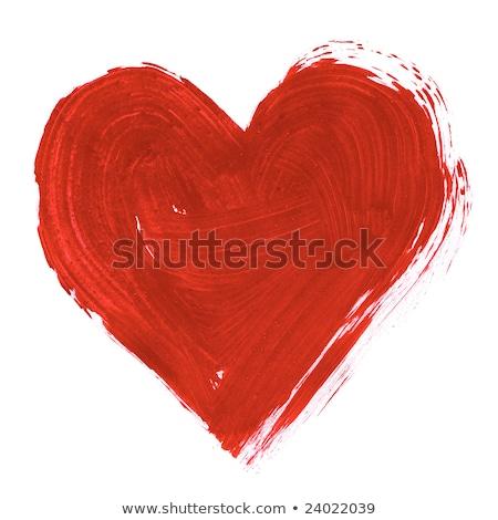 большой · красный · сердце · изолированный · белый · любви - Сток-фото © anna_leni
