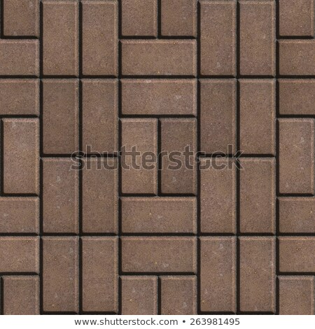 Brown Pave Slabs Rectangles Laid out in a Chaotic Manner. Stock photo © tashatuvango