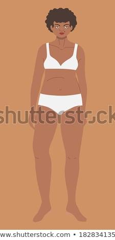 voluptuous girl in underwear Stock photo © ssuaphoto