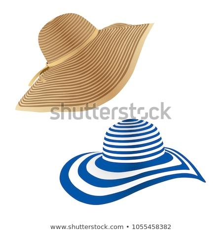 Paja verano sombrero aislado blanco Foto stock © shutswis