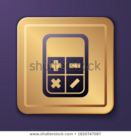 calculator golden vector icon button stock photo © rizwanali3d