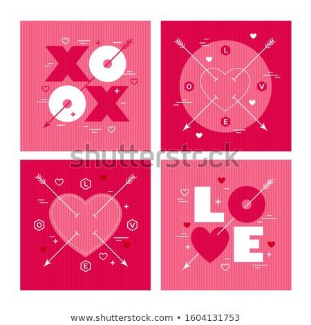 赤 · シルエット · バレンタインデー · 赤ちゃん · 中心 · 結婚 - ストックフォト © sharpner