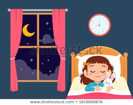 kind · slapen · beer · kaukasisch · jongen - stockfoto © zurijeta