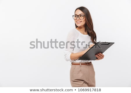 positief · zakenvrouw · witte · vrouw - stockfoto © williv