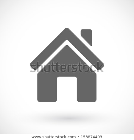 black and white flat icons homes isolated vector stock photo © cosveta