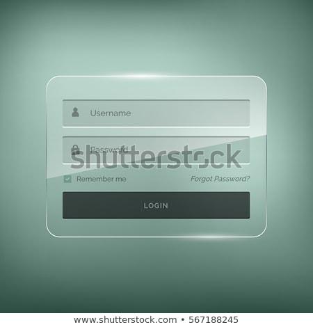 Elegancki login formularza projektu nazwa użytkownika Zdjęcia stock © SArts