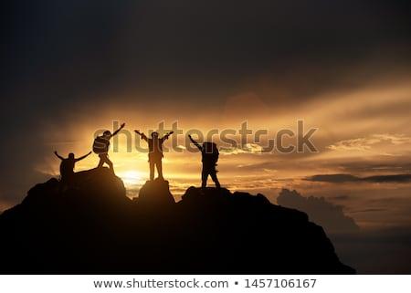 Hiker on mountain top Stock photo © kb-photodesign