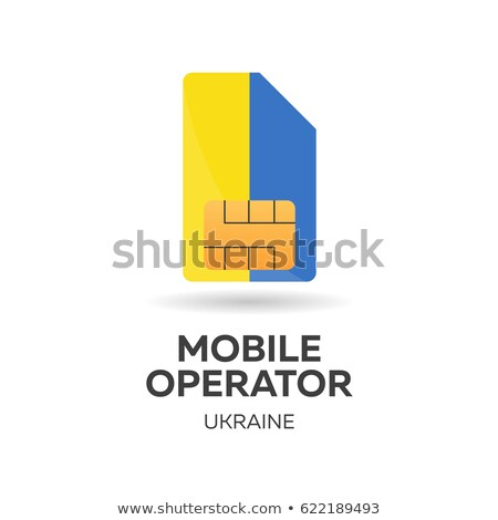 ukraine mobile operator sim card with flag vector illustration stock photo © leo_edition