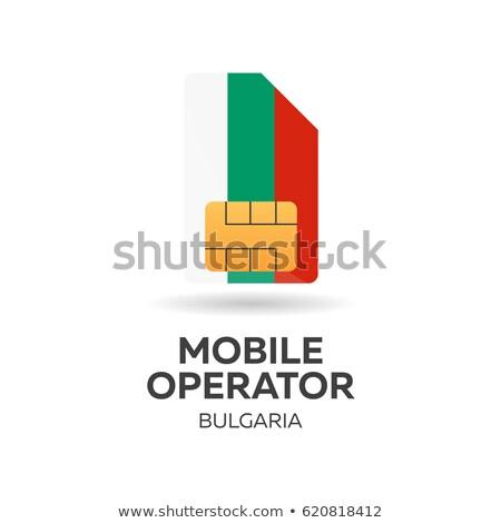 Stock fotó: Mobil · kezelő · kártya · zászló · absztrakt · terv