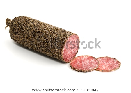 pepper crusted salami Stock photo © Digifoodstock