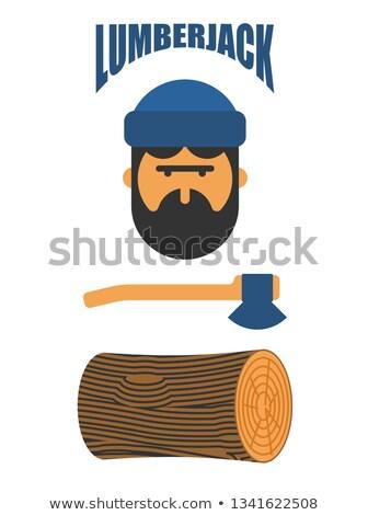 木こり · ツリー · 作業 · ワーカー · ツール · 安全 - ストックフォト © popaukropa