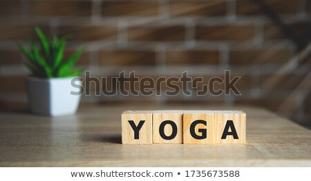 Meditation Concept Isolated Letterpress Word Stock photo © enterlinedesign