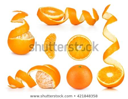 Dilimleri soyulmuş turuncu çanak turuncu dilim beyaz Stok fotoğraf © Digifoodstock