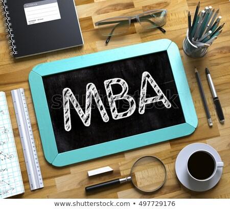 бизнеса · академический · окончания · Cap · ноутбука - Сток-фото © tashatuvango