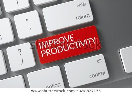Rood produktiviteit knop toetsenbord 3D Stockfoto © tashatuvango