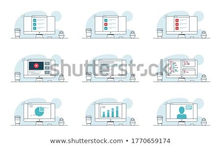 SERP Concept on Laptop Screen. Stock photo © tashatuvango