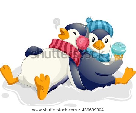 penguin ice cream full stock photo © lenm