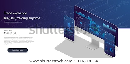 Bitcoin trading platform stock photo © PureSolution