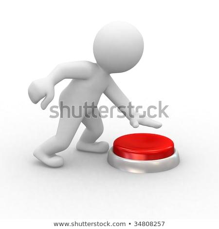 3d human button  stock photo © dariusl