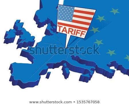 american european economic concept stock photo © lightsource