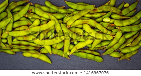 Green fresh soybeans Stock photo © Melnyk
