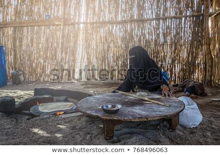 Arab oude vrouwen kaart landschap wereld Stockfoto © toyotoyo