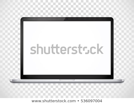 Computer with Screen Keyboard Vector Illustration Stock photo © robuart