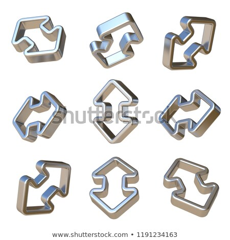 Metal dimensional double arrows 3D Stock photo © djmilic