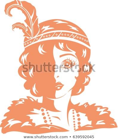 Nina plantilla ilustración posando traje Foto stock © lenm