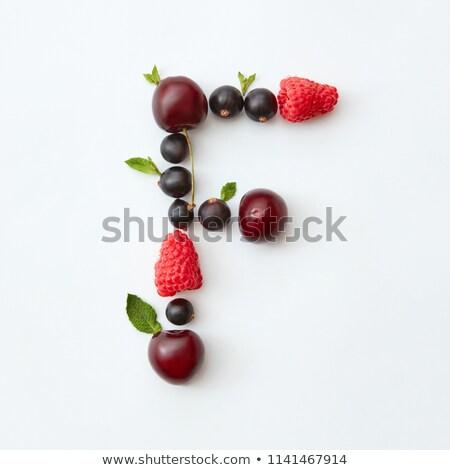 Blueberries background from natural organic freshly picked fruits. Macro of ripe fresh blueberries f Stock photo © artjazz