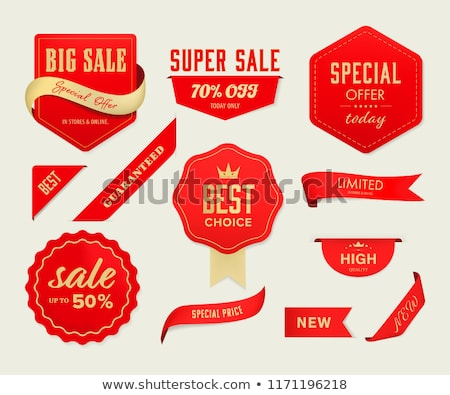 Premium Choice Posters Set Vector Illustration Stock photo © robuart