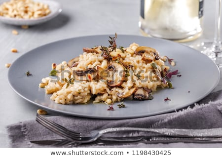 Risotto cogumelos restaurante frango queijo prato Foto stock © Alex9500