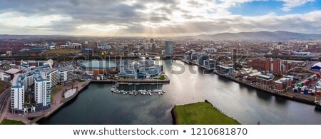 Aerial view of Northern Ireland Stock photo © benkrut