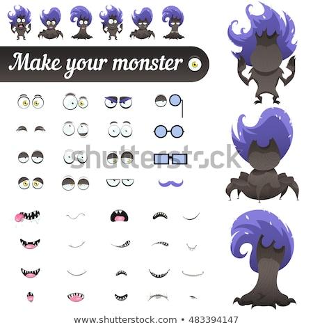 Happy Cartoon Plant Monster Icons Stock photo © cthoman