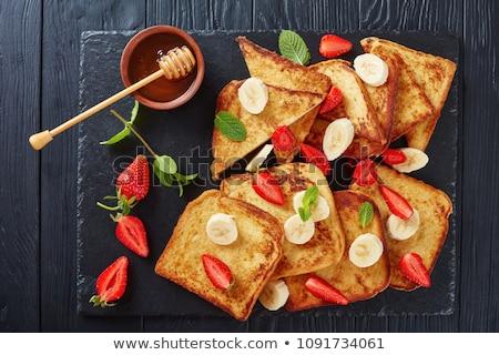 Klassiek frans toast boter esdoorn siroop Stockfoto © Alex9500