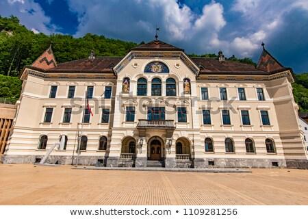 Liechtenstein épület kilátás nap kék építészet Stock fotó © boggy
