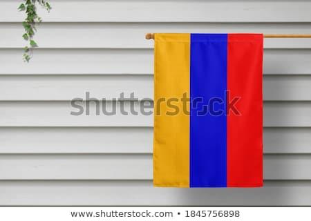 家 フラグ アルメニア 白 住宅 ストックフォト © MikhailMishchenko