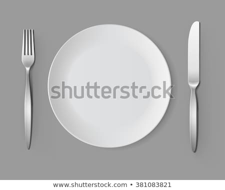 fork vector silver metal fork top view restaurant silverware tool 3d realistic illustration stock photo © pikepicture