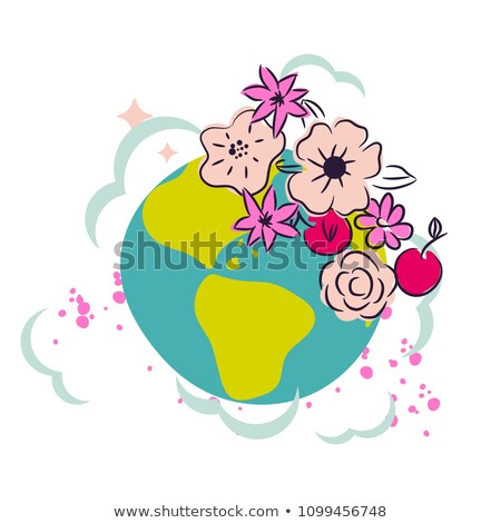 Save the Earth Happy Earth Day Cliparts Illustration Stock photo © artisticco