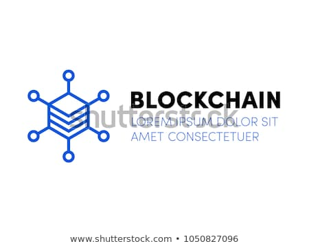Blockchain technology icon, servers network for bitcoin mining, cryptocurrency concept, vector illus Stock photo © MarySan