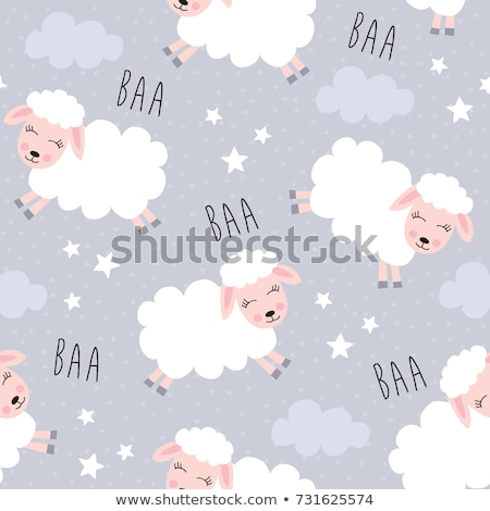 Sheep Cartoon Pattern Stock photo © sifis