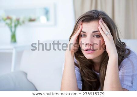 несчастный женщину страдание голову боль домой Сток-фото © dolgachov