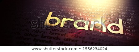 Macro Photo Of Gold Slogan Brand Business Concept Foto stock © Tashatuvango
