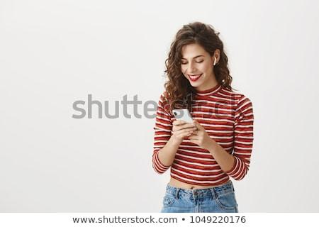 Joli jeunes femme sans fil Photo stock © pressmaster
