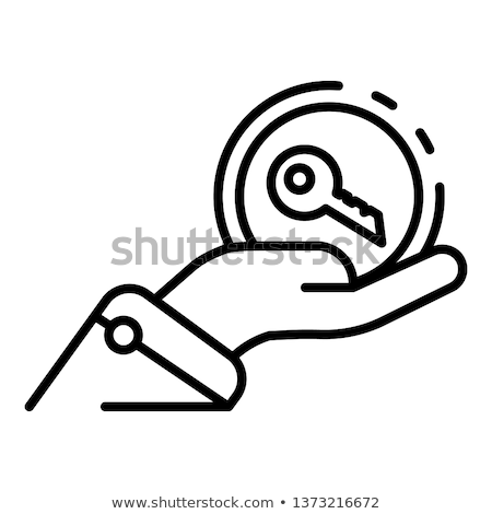 hand over car keys icon vector outline illustration Stock photo © pikepicture