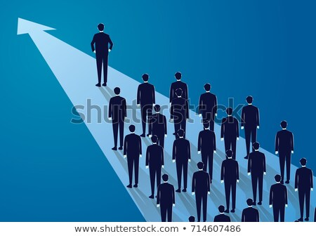 Business Leader and Workers Following Boss Vector Stock photo © robuart